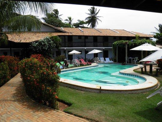 Pousada Agua Marinha: Área interna e piscina