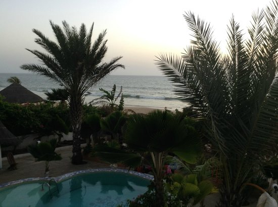 Hotel Coeur Senegal : View from our second floor balcony