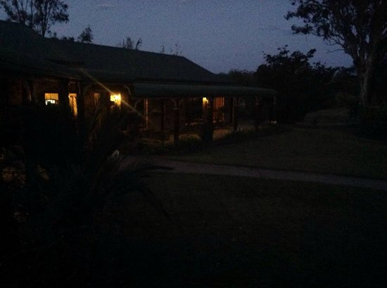 The Bearded Dragon Boutique Hotel: Dusk view from room