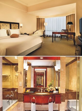 Lumire Hotel & Convention Center: Bedroom and Bathroom