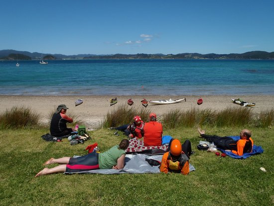 Russell --Orongo Bay Holiday Park : Roberton Is lunch spot
