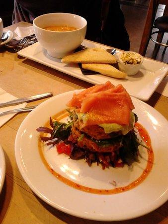 Sandfly Cafe: Kumura Fritters with Smoke Salmon