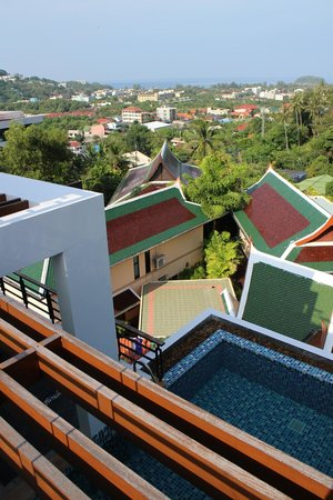 Kata Sea View Villas: View from the rooftop