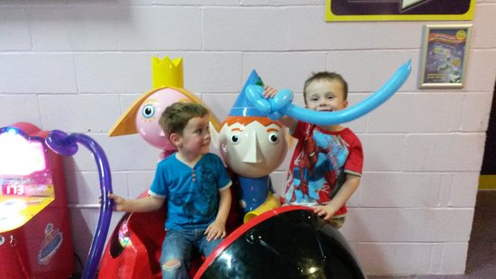 Partyman World Of Play: kids having fun with sword balloons