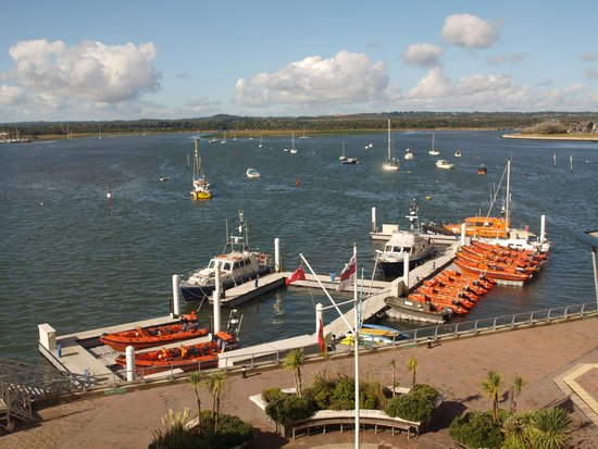 RNLI College: The view from our room