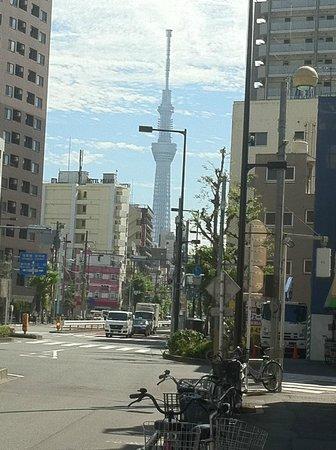 Backpacker's Hotel New Koyo: Tokyo skytree can seen