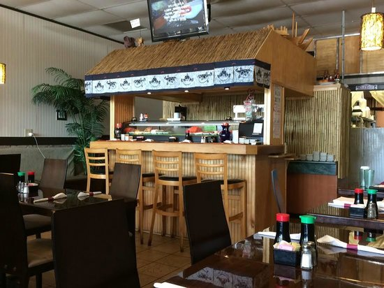 Inside Sushi Bar Picture Of Kai Thai Restaurant Milledgeville