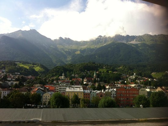 Basic Hotel Innsbruck: View from our hotel room!