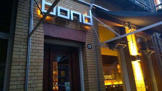 Bond: outside of restaurant