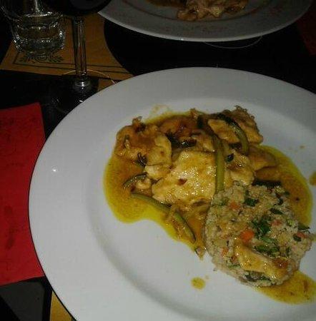 Alexanderplatz: straccetti di pollo con verdure e riso basmati