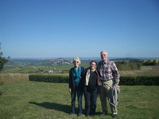 Coeur de France Ecole de Langues: Susan, Prof. Gwen, and Frank