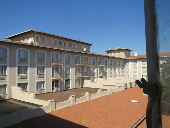 Garden Court O.R. Tambo International Airport: View of back of hotel from room