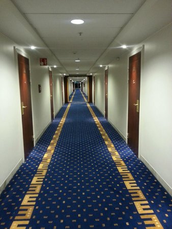Elite Park Avenue Hotel: hallway leading to my hotel room
