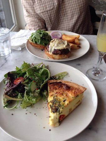 The Tremont Cafe : Quiche and burger