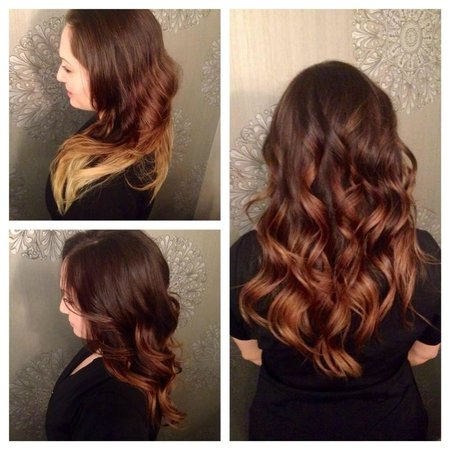 Mirror Salon Spa Rich Brown With A Hint Of Copper Ombre Hair Colour