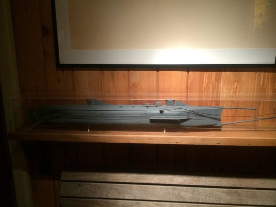 Shem Creek Bar & Grill: A model of the HUNLEY on display.....