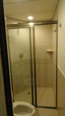 Aquamarina Beach Hotel: shower area clean but tiny