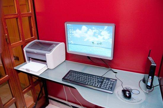Hotel Il Gabbiano: Internet corner con stampante laser