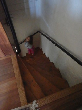 Black Bass Hotel : The very steep and narrow stairs in the Fieldstone Suite