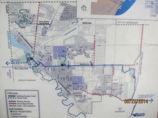 Huroc Park: bicycle path map