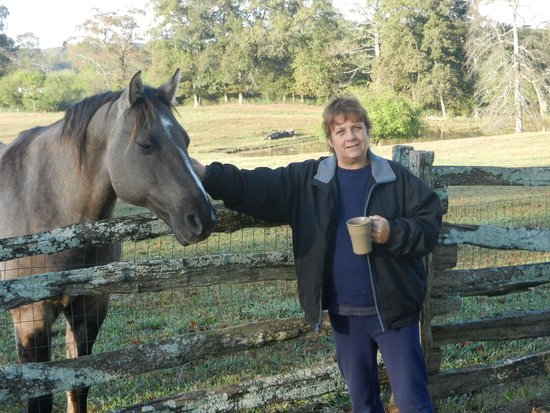 Seventy-four Ranch: Coffee with horses