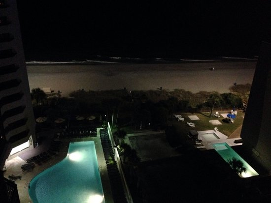 View from room picture of ocean reef resort myrtle for Balcony night view