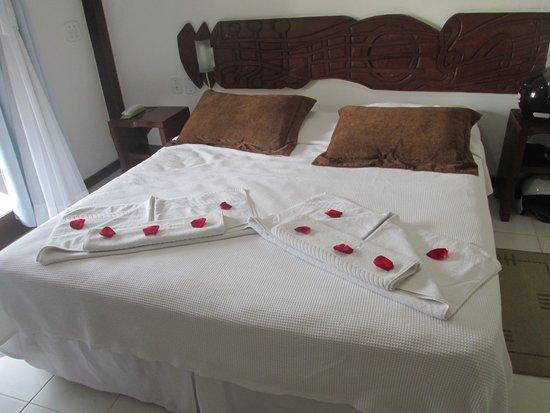 Buzios Arambare Hotel: Nosso quarto assim que entramos