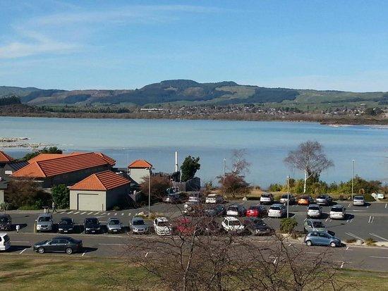 Millennium Hotel Rotorua: Vista desde el balcón