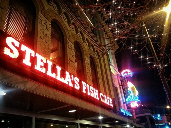 Retro neon sign picture of stella 39 s fish cafe for Stellas fish cafe