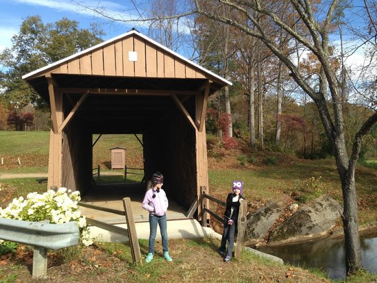 Jack's Creek Covered Bridge: Bridge - Note nice EMPTY display sign at far end.