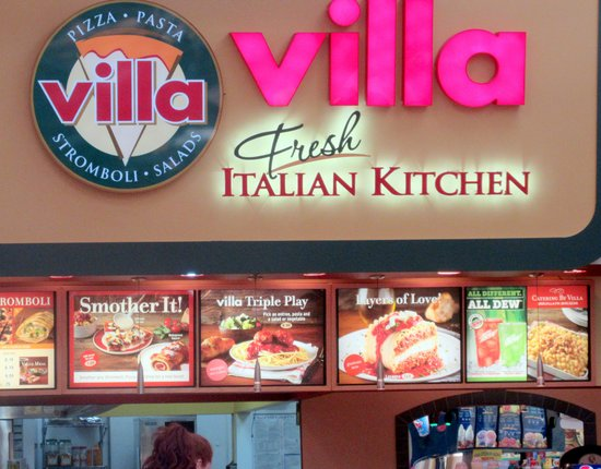 Villa Fresh Italian Kitchen Great Mall Food Court Milpitas Cca