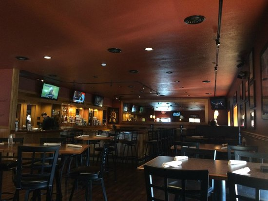 CJ's American Pub & Grill: Inside the bar side of the restaurant.
