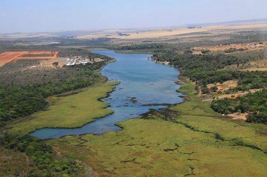 Formosa, GO: Lagoa Feia vista do alto - Foto Eduardo Andreassi ₢ www.eduardoandreassi.com Jornalismo/Fotogr