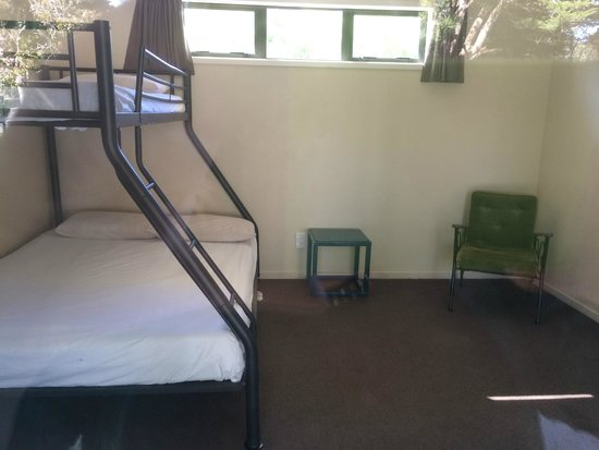 Harcourts Holiday Park : One of the Eco Cabin units. Very basic but clean.
