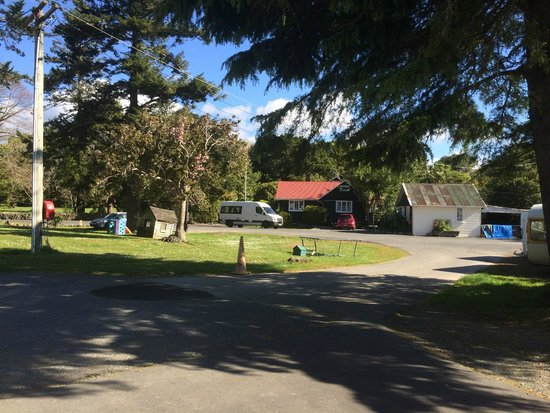 Harcourts Holiday Park : The office building and grounds - take kids to the awesome playground at the park next door inst