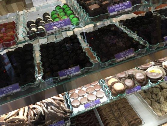 Li-Lac Chocolates: various chcolates