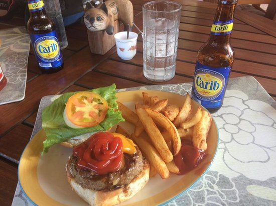 Double Deuce: Easily the best burger in the Caribbean.