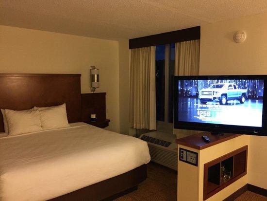 Hyatt Place Mohegan Sun: Swivel tv in the room