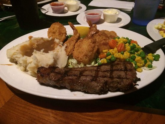 Paradise Buffet and Cafe: Steak & shrimp special $12.99