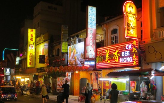 Petaling Street: colorful neon signs