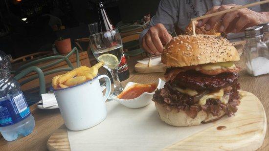 Friendly Stranger: Looks better than it tastes. The hamburger.