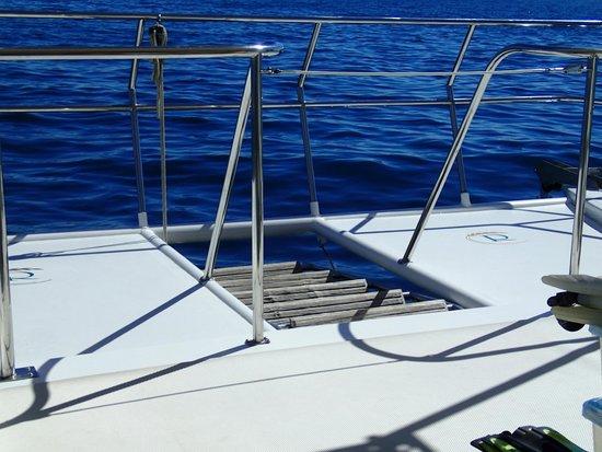 Rissalena Cruises: ladder raised during sailing