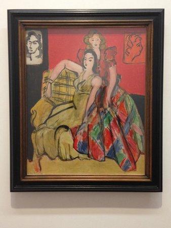 Musée Matisse : Deux jeune filles, la robe jaune et la robe écossaise. November 1941