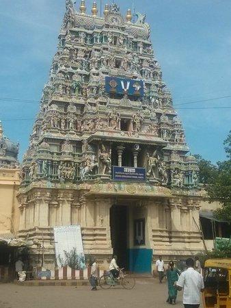 Koodal Azhagar Temple : temple entrance