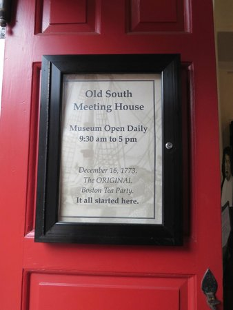 Old South Meeting House: Sign