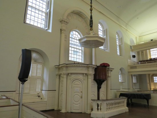 Old South Meeting House: Church pulpit