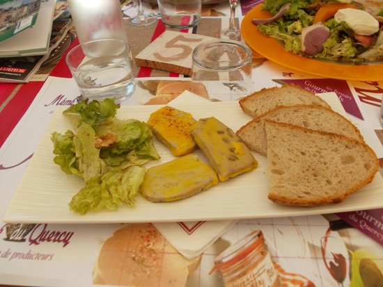 Mémé du Quercy : Trio de foie-gras, délicieux :)