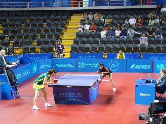 table tennis match in progress picture of yamuna sports complex rh tripadvisor in