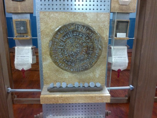 Museum of Typography: disco de festos, creta
