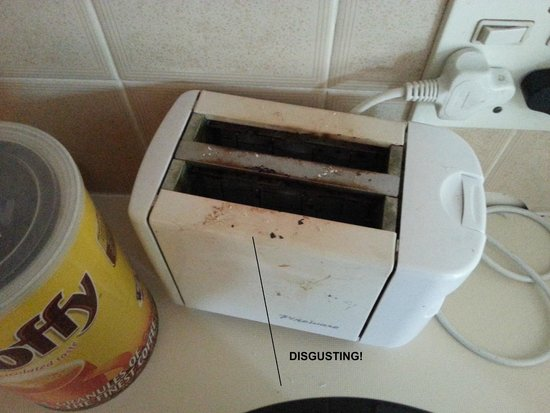 Cape Town Palms: Disgusting state of toaster